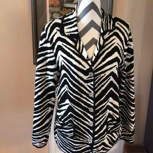 Chico's Zebra Print Sweater Size MEDIUM
